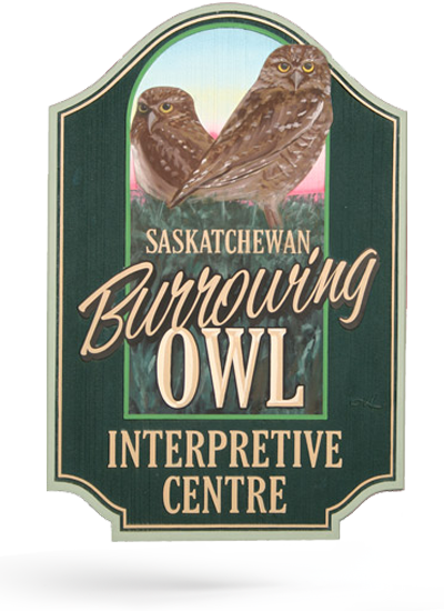 Saskatchewan Burrowing Owl Interpretive Centre Sign